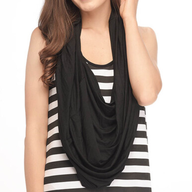 MOOIMOM Multi-Use Nursing Scarf - Pure Black