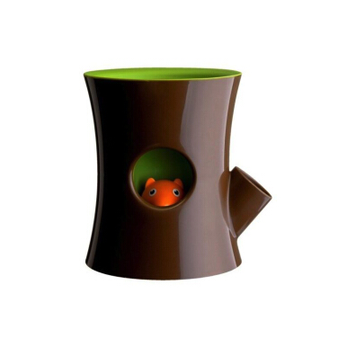 QUALY Log & Squirrel (Plant Pot) - QL10075BNGN