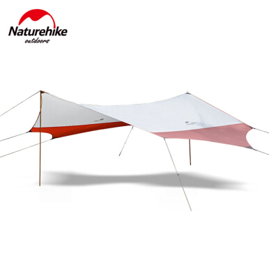 Naturehike Hexagonal Sun Shelter with Pole Waterproof Awning Camping Sunshade Canopy Beach Tent 400 X 350CM