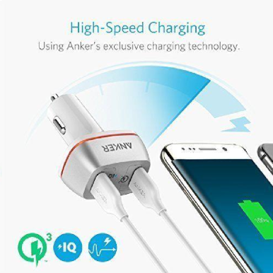 ANKER Car Charger PowerDrive+ 2 Quick Charge 3.0 Putih - A2224H21