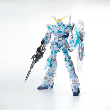 BANDAI Gundam  MG the art of Gundam Unicorn Clear
