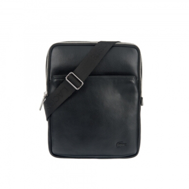 LACOSTE Men's Flat Crossover Bag - Black [One Size]