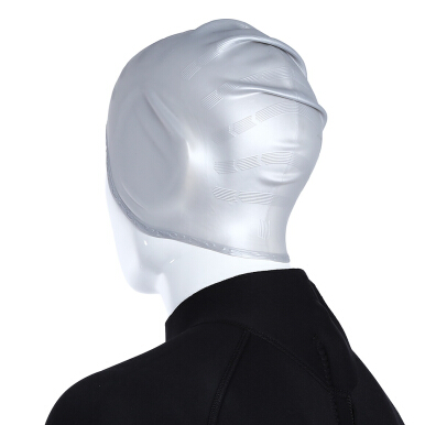 Shenyu Water-resistant Unisex Silica Gel Ear Protection Swimming Cap