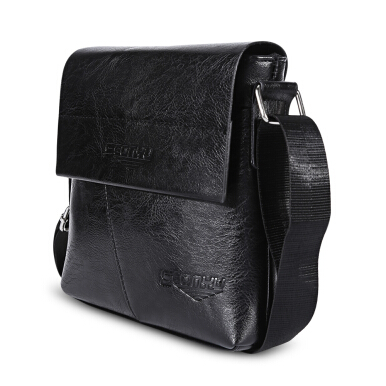 SEONYU Business Half Flap Shoulder Crossbody Bag for Men