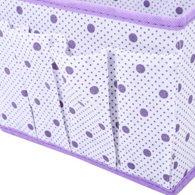 Wave Point Non-woven Fabric Foldable Storage Box CCC Rectangle Container