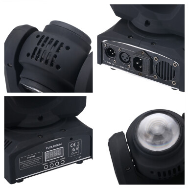 Floureon® 20W 2 Cree LED Moving Head Double Face Led beam Stage Light,4in1 RGBW,DMX512,15/21CH For Indoor Club,Disco Party Show, DJ, KTV, Sound Active,AU.