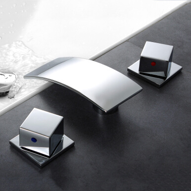 LANGFAN J4837 Waterfall Bathroom Bathtub Hot & Cold Water Faucet