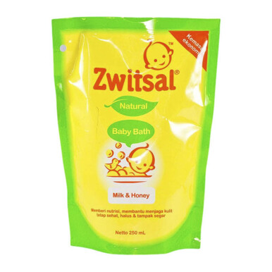 ZWITSAL Baby Bath Natural Milk & Honey Pouch 250ml