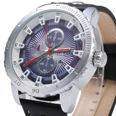 CURREN 8206 Business Style Date Displaying Male Quartz Watch