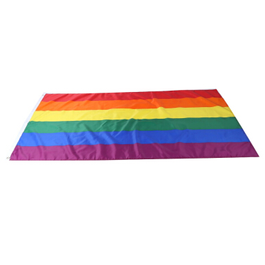 90 x 150cm Rainbow Flag Polyester Lesbian Gay Pride LGBT for Decoration
