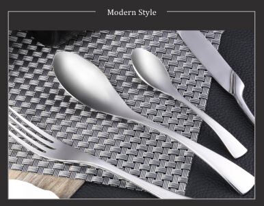 4pcs Portable Stainless Steel Spoon Fork Knife Dinnerware