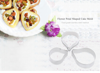 3pcs Flower Petal Stainless Steel Cookie Cake Cutter Baking Mold