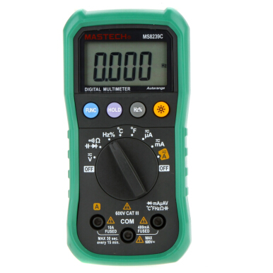 MASTECH MS8239C Auto Ranging Digital Multimeters Volt Current Resistance Frequency Temp Capacitance Tester