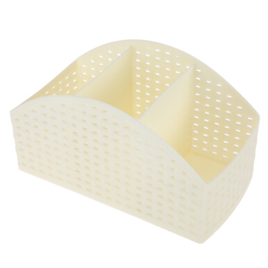 Polygon Rattan Imitation Storage Box Cosmetic Office Supply Organizer