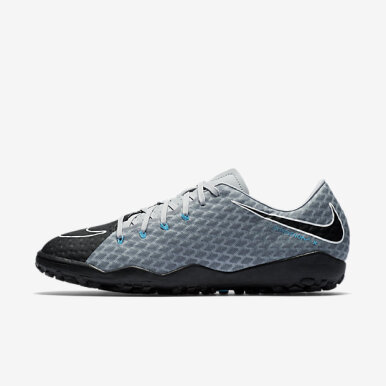 NIKE Hypervenomx Phelon III TF [852562-004] - Grey Black [36]