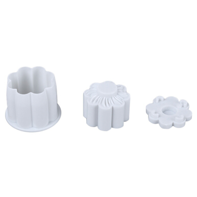 2pcs Cake Fondant Decorating Sugar Craft Plunger Mold Tool