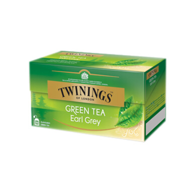 TWININGS Green Tea Earl Grey 25 x 2g
