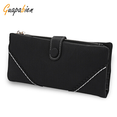 Guapabien V  Pattern Lace Hasp Zipper Design Dull Polish Horizontal Wallet for Lady