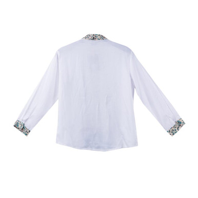 LITTLE SUPERSTAR Koko Shirt 2 Tone LS White Batik Cream A038B [11 - 12]
