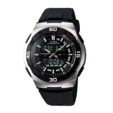 CASIO Water Resistant 100M Resin Band - [AQ-164W-1AVDF]