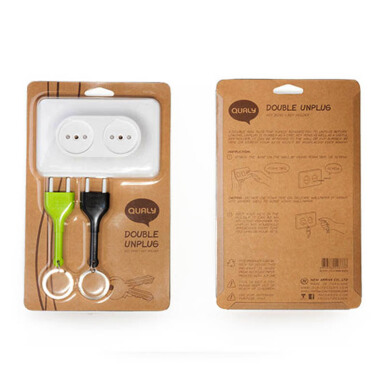 QUALY Double Unplug Key Ring - Green Orange/QL10149OR