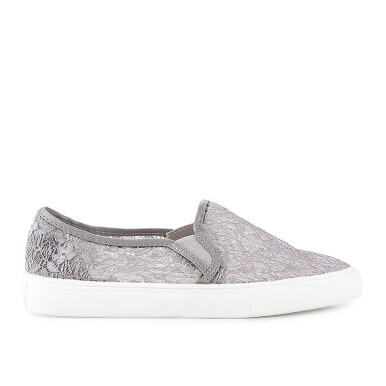 Minarno Minarno Grey W Lace Slip-On - Grey [36]
