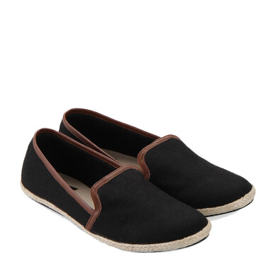 Minarno Black Women Canvas Slip-On 001 - Black [36]