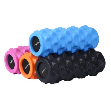 Finether Yoga Foam Roller EVA Exercise Trigger Point GYM Pilates Texture Physio Massage Orange ML-100801