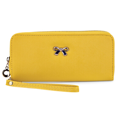 Guapabien Bowknot Rivet Detachable Strap Wrist Clutch Wallet
