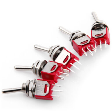 Durable AC 240V 3A DIY 3Pin Toggle Switch - 5PCS