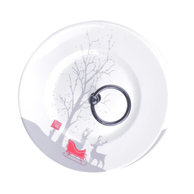 222 FIFTH - Cake Tray - Red Sleigh