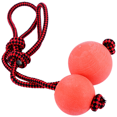 Solid Rubber Pet Puppy Dog Chew Training Ball Toy with Rope