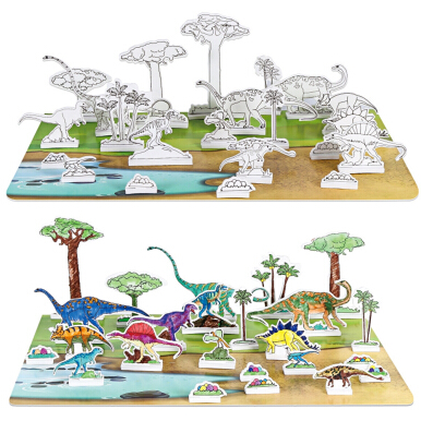 3D Puzzle Sea Animals Drawing Toy Set for Children