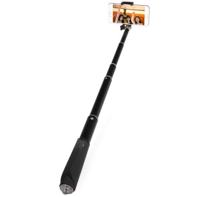 Bluetooth V3.0 Remote Control Camera Shutter Selfie Monopod with Phone Clip Stand