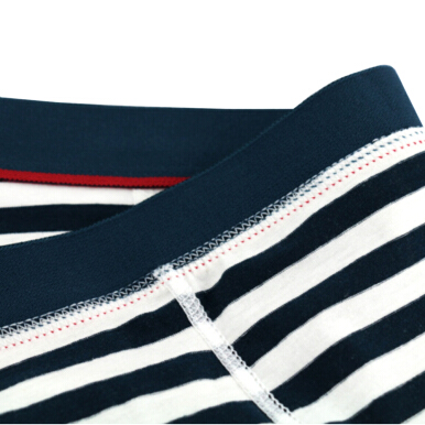 new arrival in March men's elastin cotton strip boxer brief fashion style mindle waist