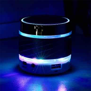 Portable LED Mini Wireless Bluetooth Speaker Stereo Bass Mic for Smartphone
