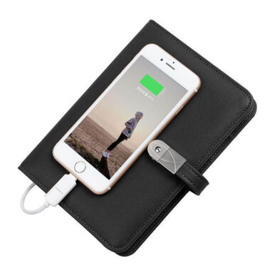 GONIAGA Power Book Leather Power Bank USB - Black