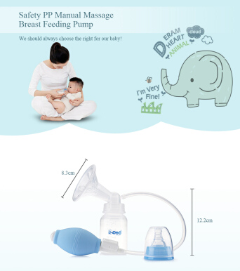 Bobeielephant Safety PP Manual Massage Breast Feeding Pump-Pink