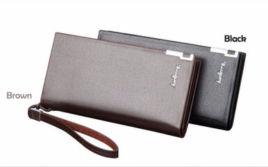 Business Men's Wallets Solid PU Leather Long Wallet Portable Cash Purses Casual Standard Wallets Male Clutch Bag