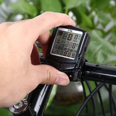 SunDing SD - 573C Wireless Water Resistant Bicycle Computer Cycling Odometer Speedometer Heart Rate Monitor with LCD Backlight