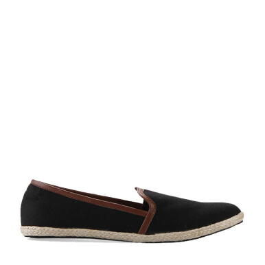 Minarno Black Women Canvas Slip-On 001 - Black