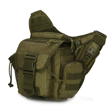 Unique Tas Selempang Army Tahan Air - Army Sling Bag Waterproof AT249  For Tablet Android / Apple iOs Green