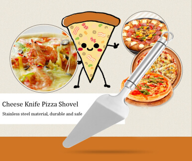 Stainless Steel Cheese Knife Bud Cake Pizza Shovel Kitchen Tool