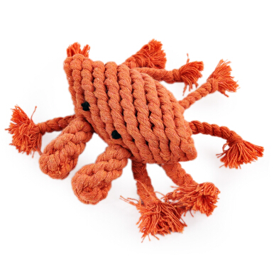 Pet Rope Toy Chew Crab Cotton Knot Teeth Clean for Aggressive Dog RANDOM COLOR