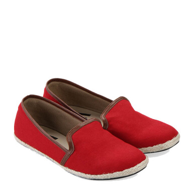 Minarno Red Women Canvas Slip-On 001 - Red [36]