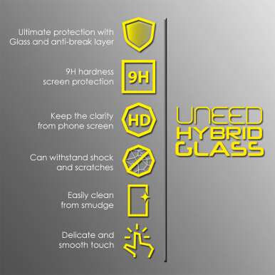 UNEED Shield 9H Hybrid Glass Protector for iPhone 7 - Anti Break