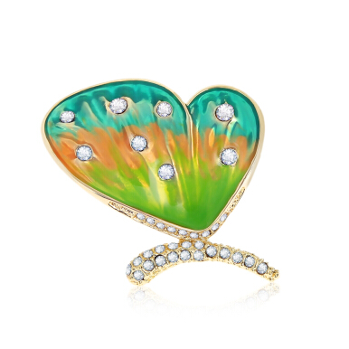 Elegant Butterfly Pattern Rhinestone Decoration Brooch