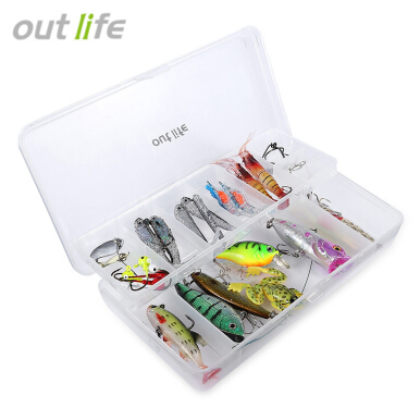 Outlife 35pcs / Set Fishing Bait Frog Shape Fishing Lure