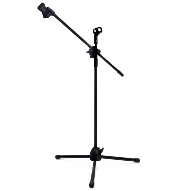 NB - 107 Microphone Tripod Stand with Dual MIC Clip 360 Degrees Rotating Boom Arm