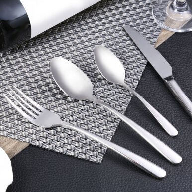 4pcs Portable Stainless Steel Spoon Fork Knife Tableware